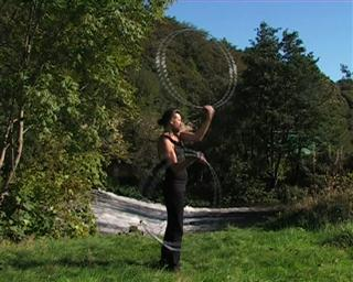 hoop swinging