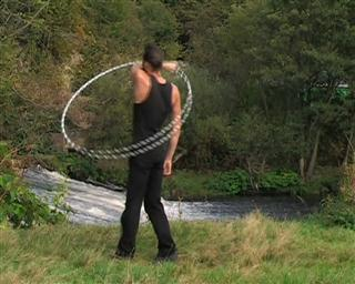 hooping one handed step in